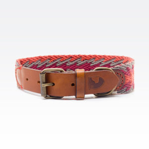 Buddys Hundehalsband Peruvian Arrow Orange 01