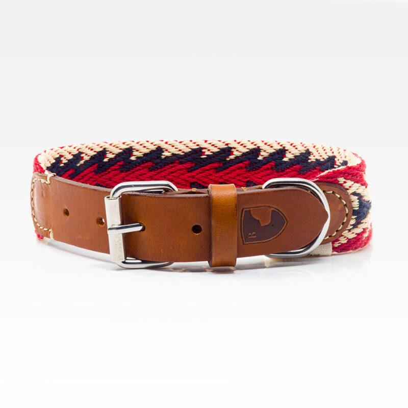 Buddys Hundehalsband Peruvian Arrow Red 01