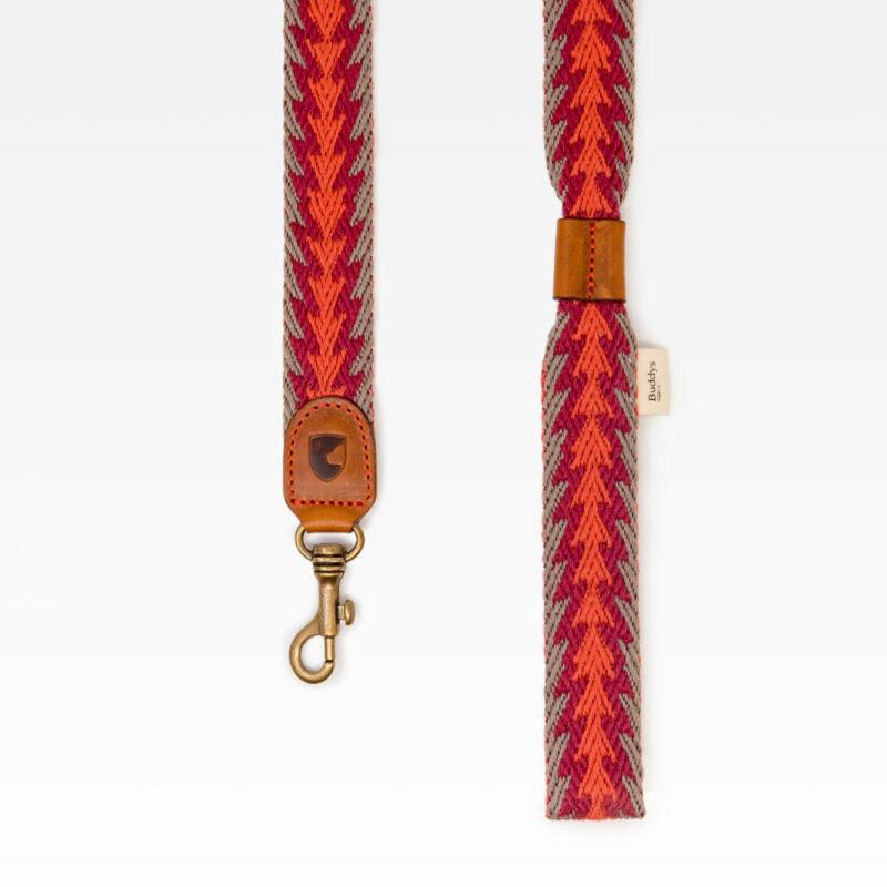 Buddys Hundeleine Peruvian Arrow Orange 120cm 02
