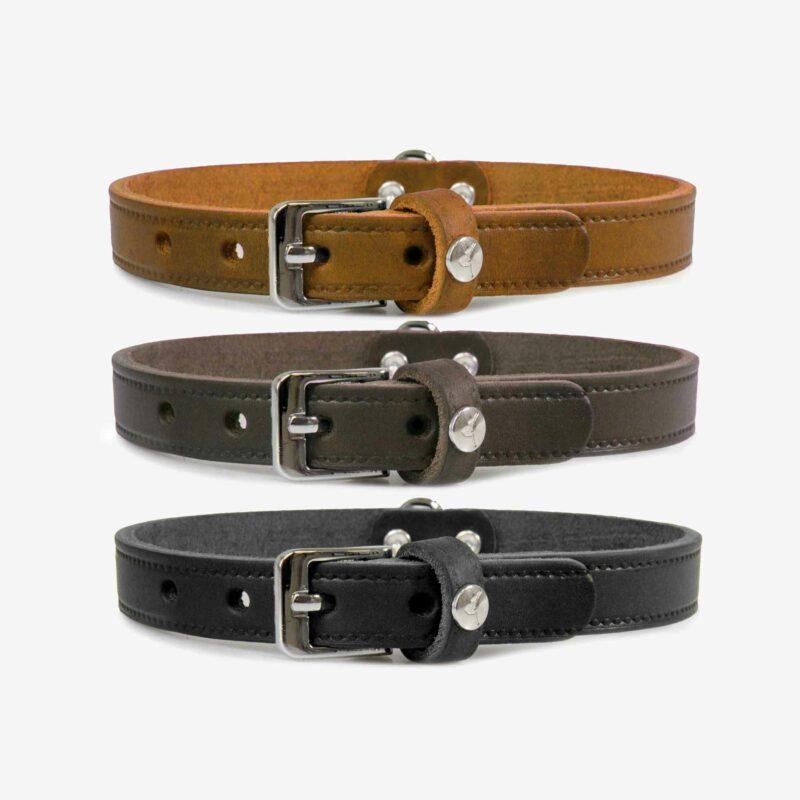 Das Lederband Hundehalsband Weinheim Farbvarianten 2