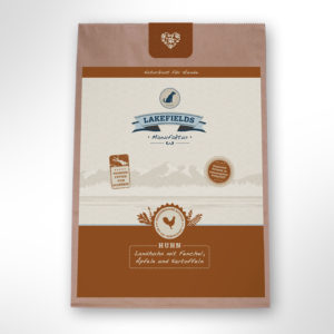 lakefields-hundefutter-trockenfleisch-menue-huhn