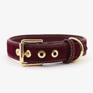 William Walker Hundehalsband Leder Lambrusco 1