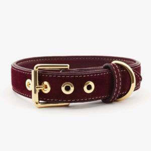 William Walker Hundehalsband Leder Lambrusco 1