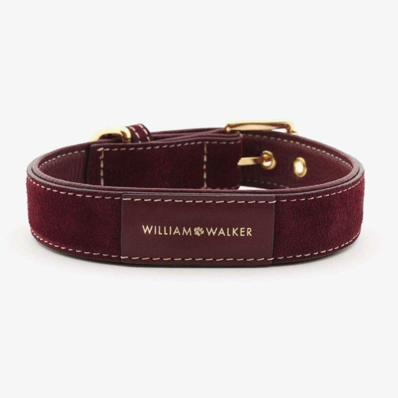 William Walker Hundehalsband Leder Lambrusco 2