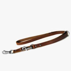 Das Lederband Hundeleine Maroon Führleine verstellbar
